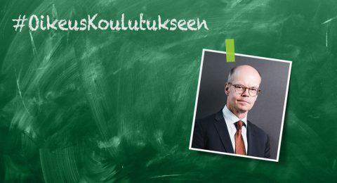 Opetushallituksen pääjohtaja Olli-Pekka Heinosen mielestä koulutus pitäisi nostaa Suomen kehityspolitiikan kärkiteemaksi.