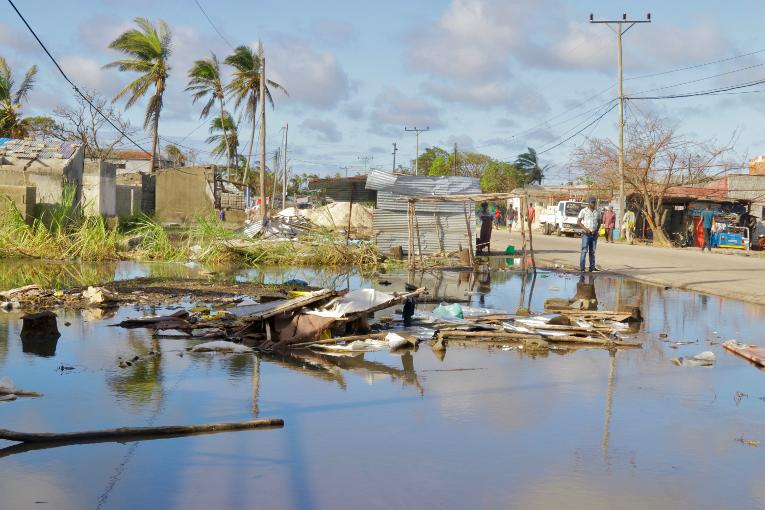 Kirkon Ulkomaanapu auttaa Beirassa, Mosambikissa Idai-myrskun uhreja.