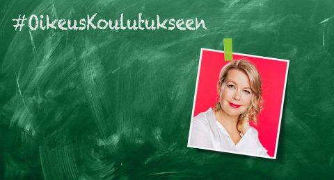 Elina Hirvosen mielestä koulutus pitäisi nostaa Suomen kehityspolitiikan kärkiteemaksi.