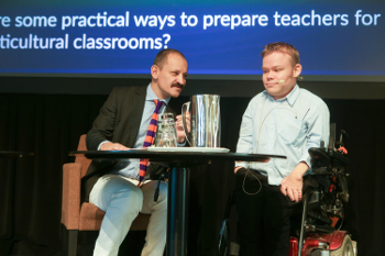 Peter Hyll-Larsen and Tuomas Tuure discussed inclusive education in Helsinki.