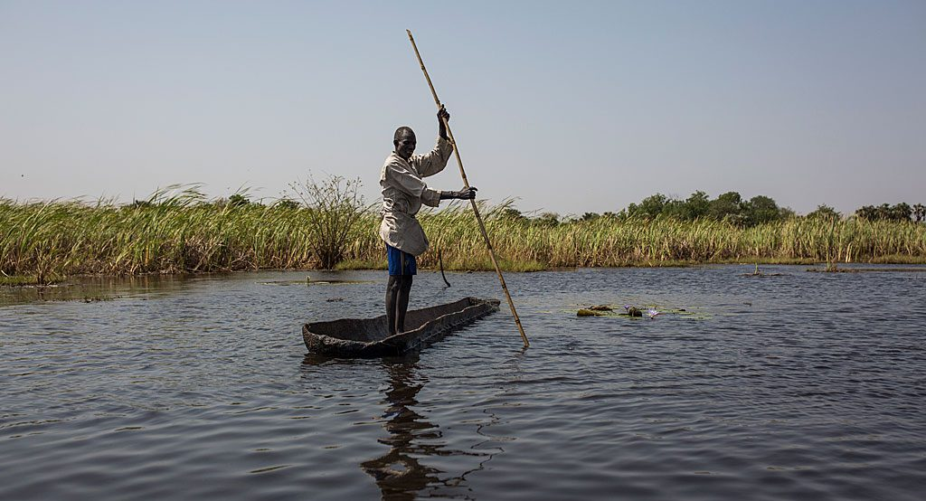 The swamp in South Sudan has offered refuge for people fleeing the war.