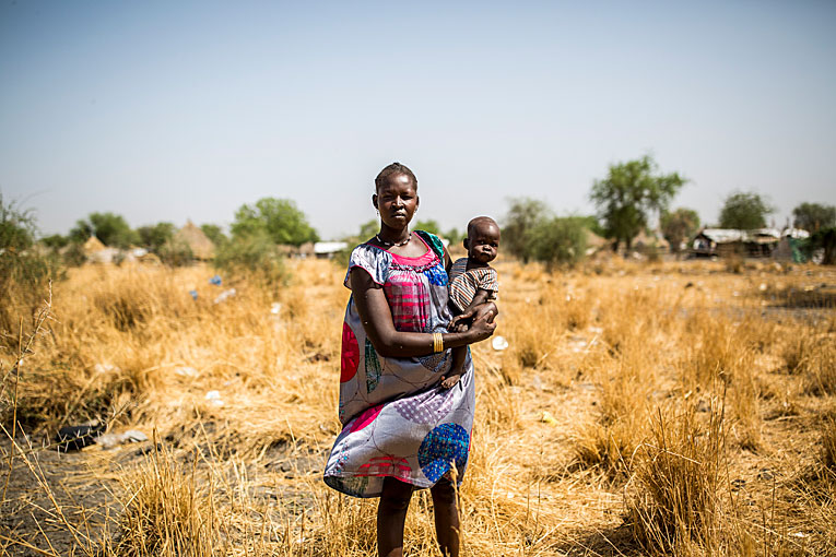 South Sudanese Nyarom Jiech Chuol is a single mother with seven children.