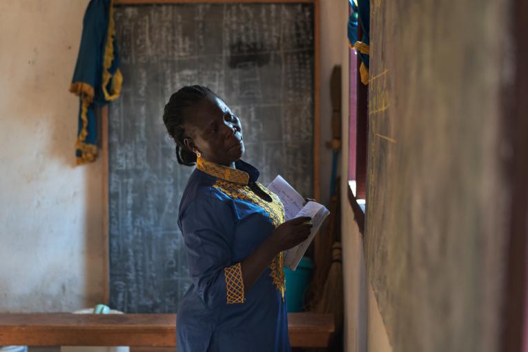 Damaris on päättäväinen ja innostava opettaja Keski-Afrikan tasavallassa.