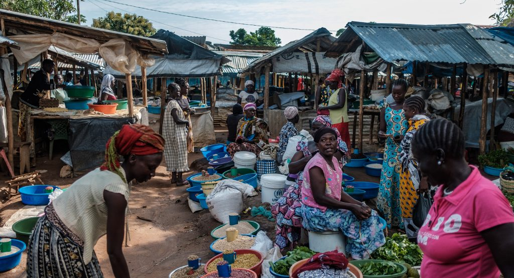 Life is slowly returning to the market in Yei's town centre as refugees return from Uganda and the Democratic Republic of Congo.