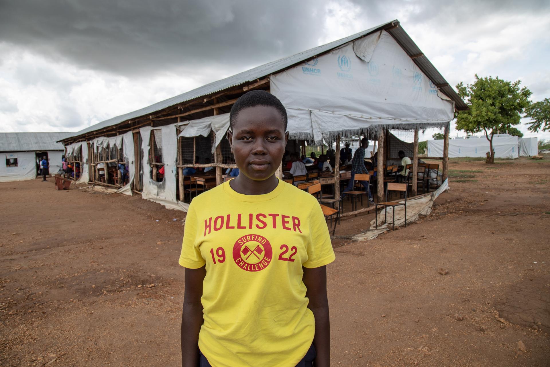 Eteläsudanilainen Jessica opiskelee KUA:n tukemassa Koro Highlandin yläkoulussa