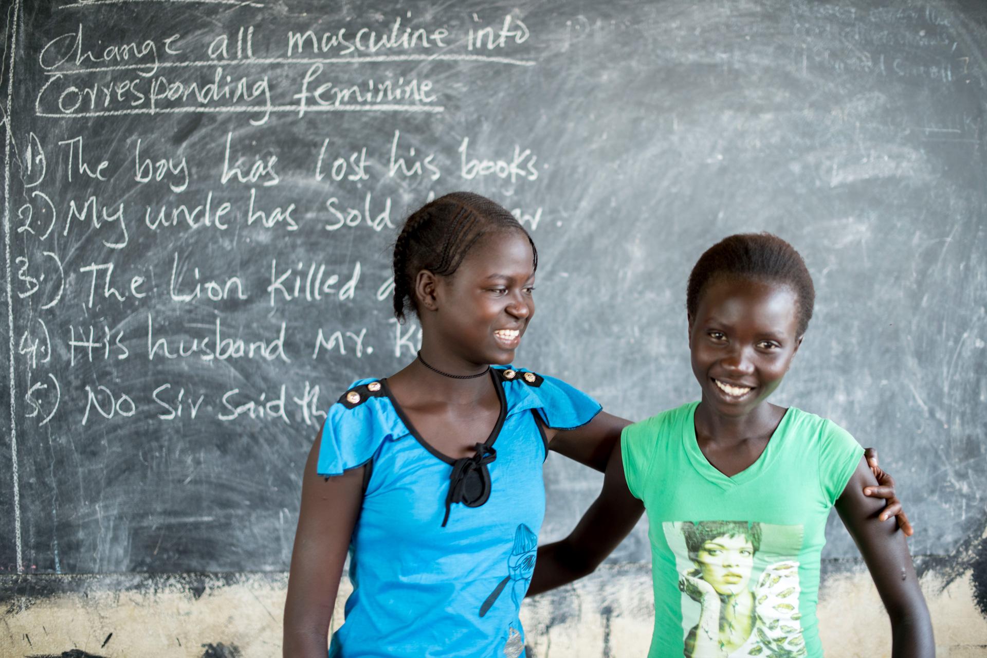 KUA tukee tyttöjen koulutusta Piborissa Etelä-Sudanissa