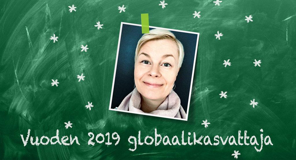 Opettajat ilman rajoja -verkosto valitsi Hanna Ruohikon vuoden 2019 globaalikasvattajaksi.