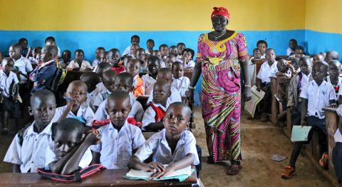 Koululuokka Kongossa