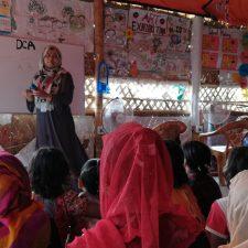 Naisten turvallinen tila Cox's Bazarin pakolaisleirillä
