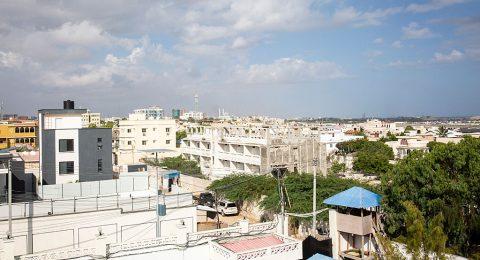 Kaupunkinäkymä Mogadishusta.