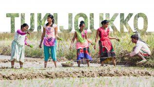 Nepalilaisia kylvämässä pellolla.