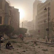 Beirutin rakennukset vaurioituivat pahasti sataman räjähdyksessä 4.8.2020. Kuva: Joakim Elli / NCA.