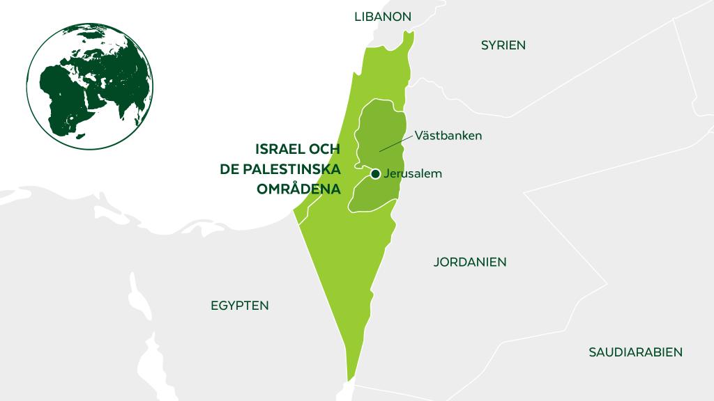 Karta om Västbanken