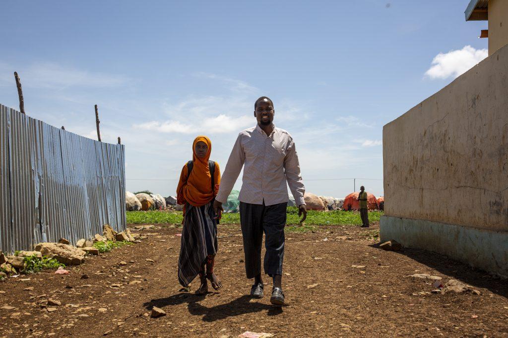 Abdullahi Hassan Yusuf ja hänen tyttärensä Luuley