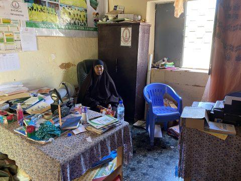 Lul Mohamed Nur in her school office in Hudur, Somalia.