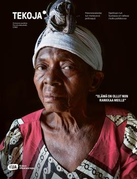 Tekoja-lehden kannessa vanha nainen.